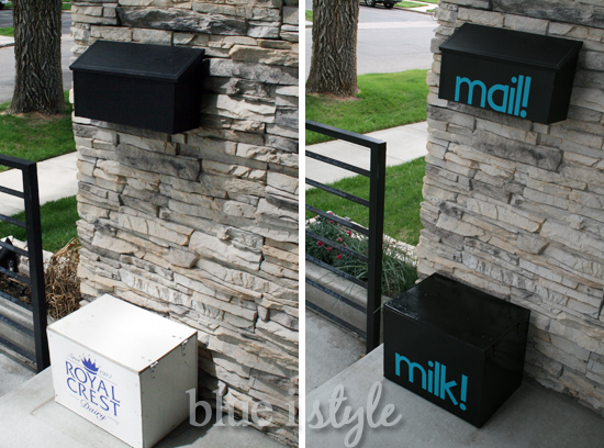 Mailbox and Milkbox Makeovers