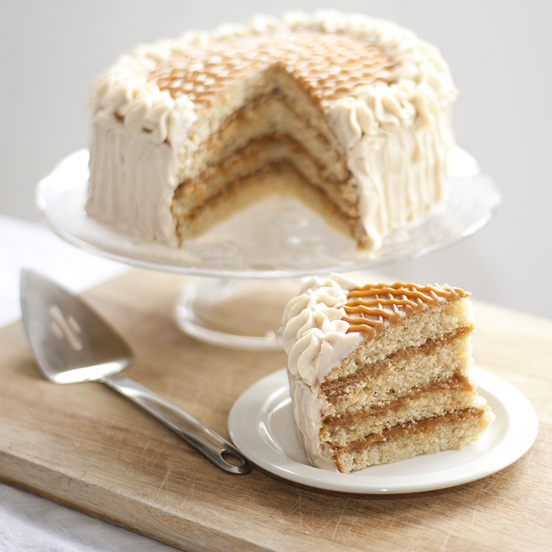 Sprinkle Charms: Caramel Layer Cake