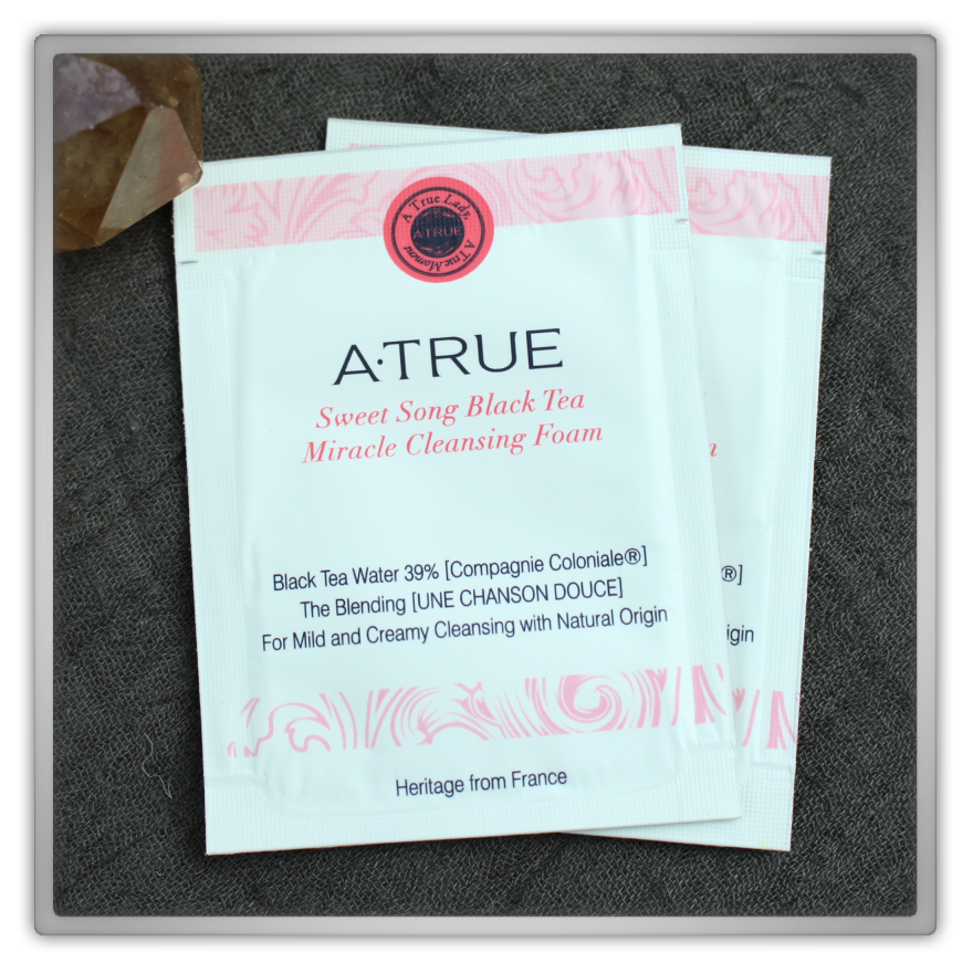 A·TRUE (에이트루) Korean Cosmetics Haul & Review Sweet Song Black Tea Miracle Cleansing Foam