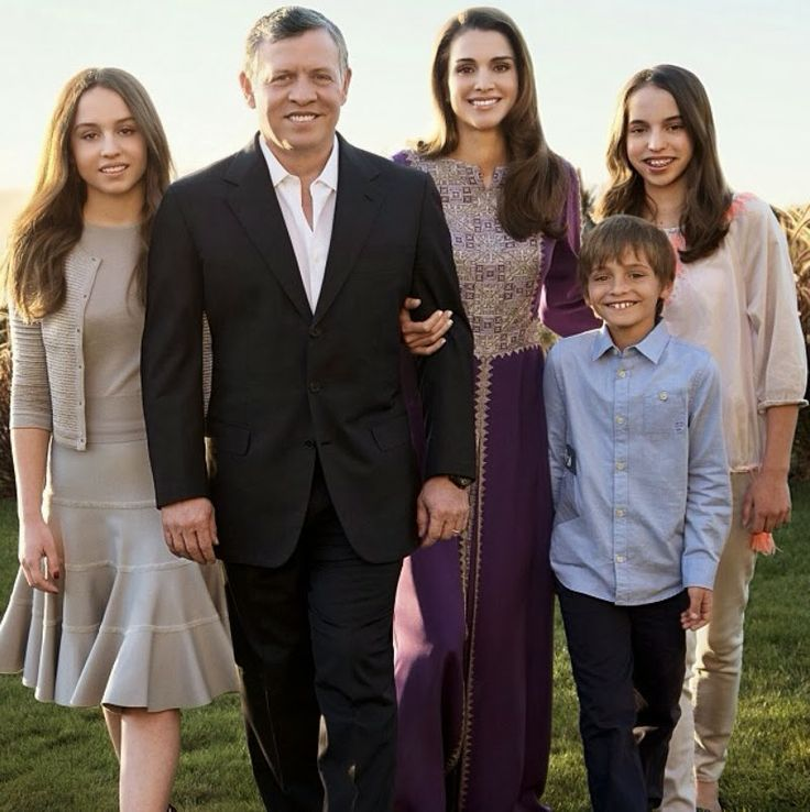Happy New Year from Queen Rania and her family ...