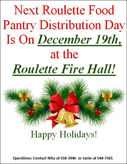 12-19 Roulette Food Pantry