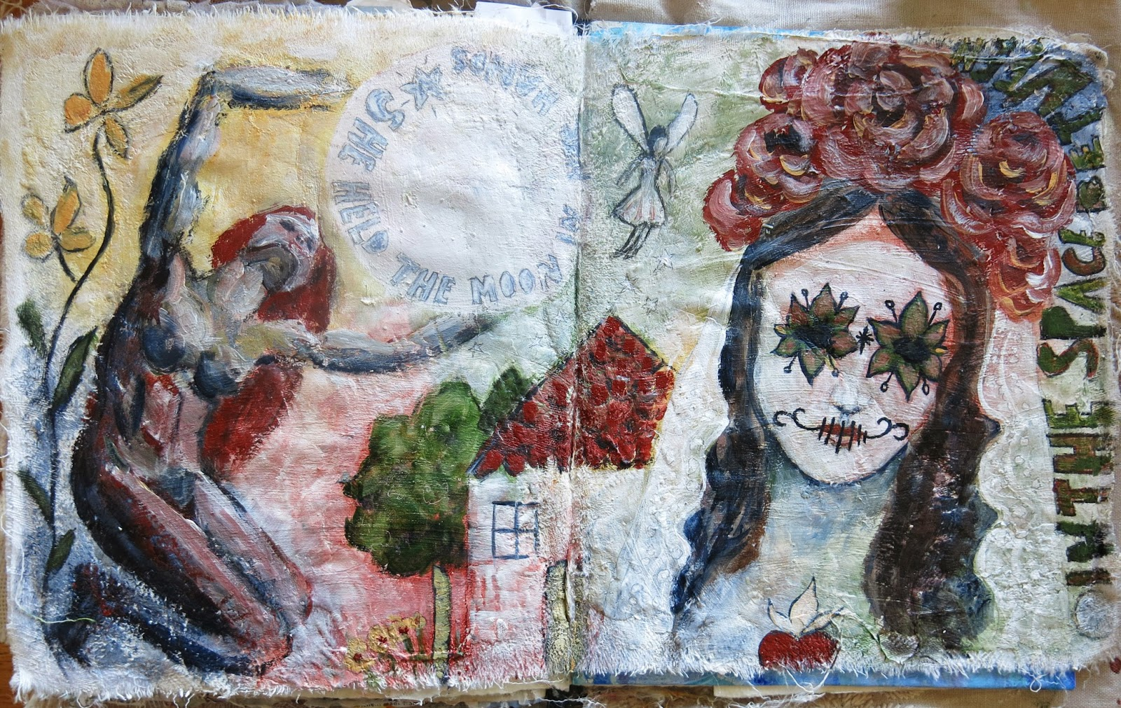 Galia Alena Mixed Media Art Journal Pages