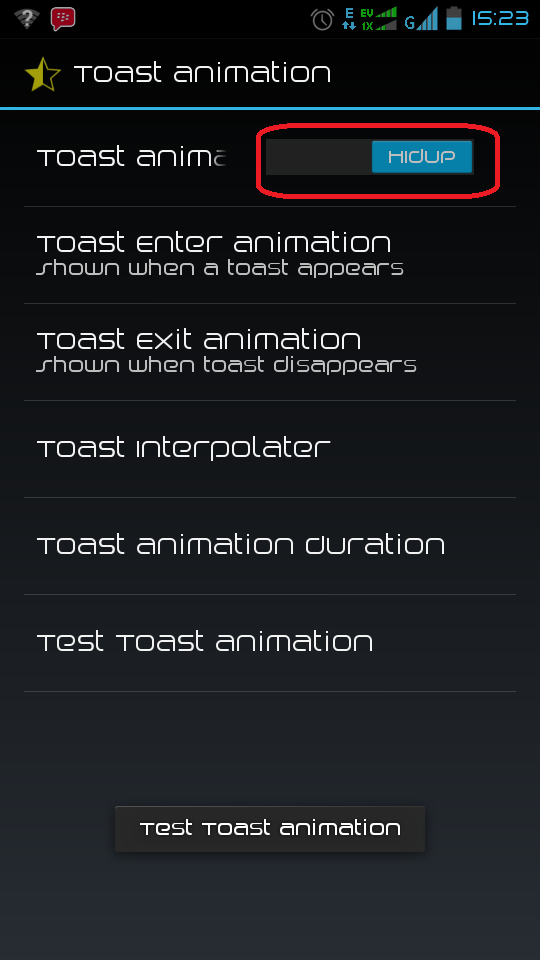 Cara Merubah Tampilan Efek Pemberitahuan atau Toast Animation