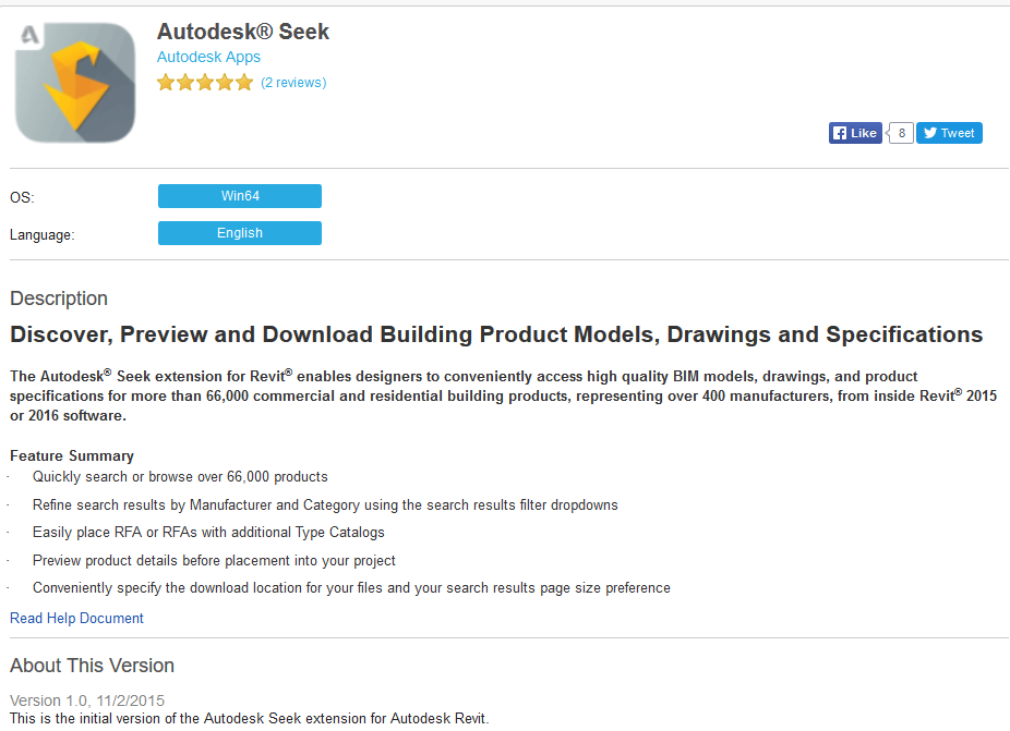 Direct Links To The Seek Addin For Revit Now Available On