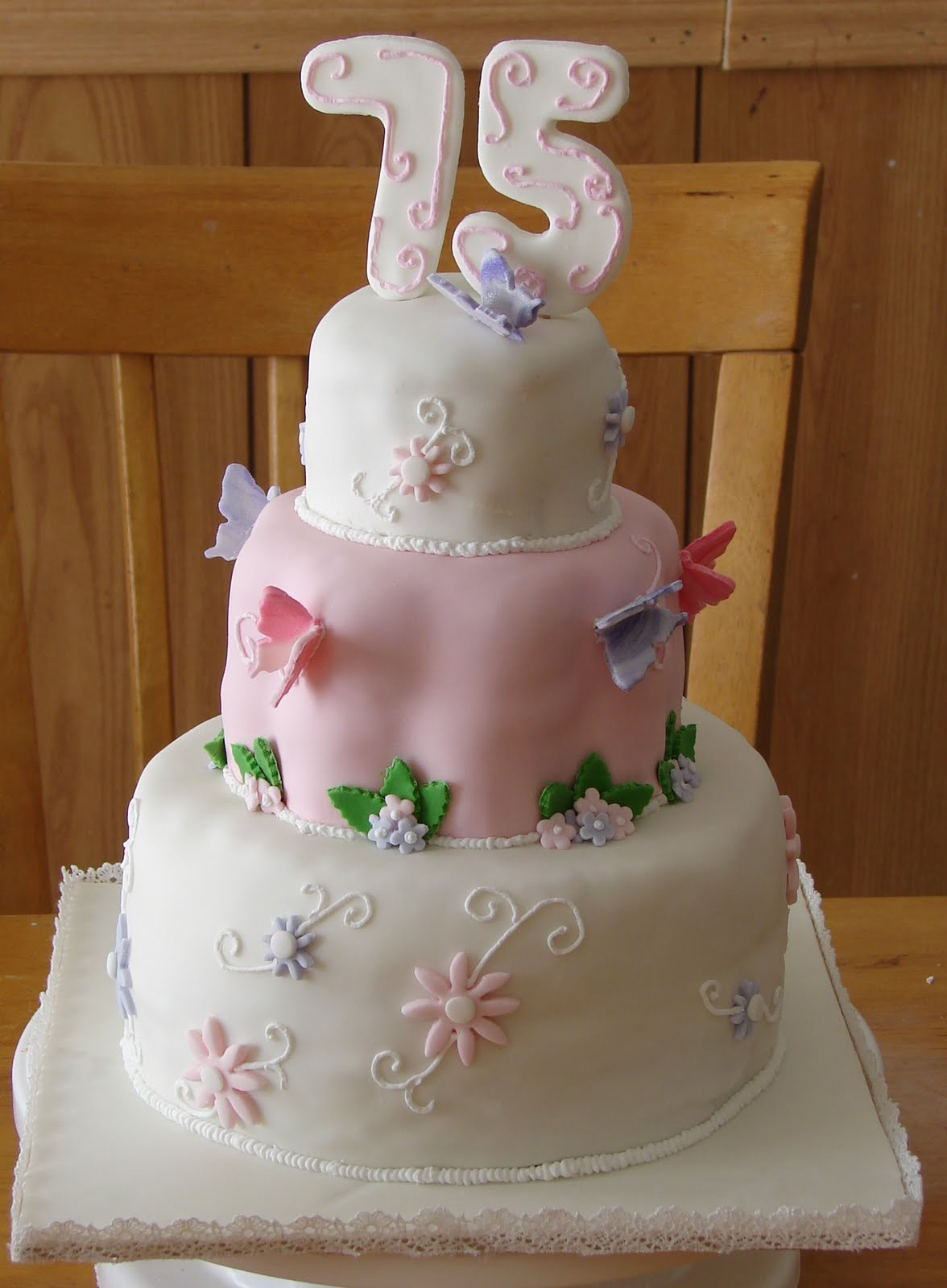 My Cake Hobby 75th Birthday Cake