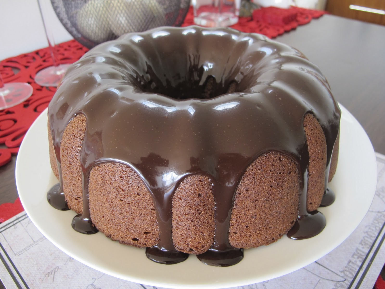 Double Chocolate Bundt Cake With Sticky Chocolate Ganache ...