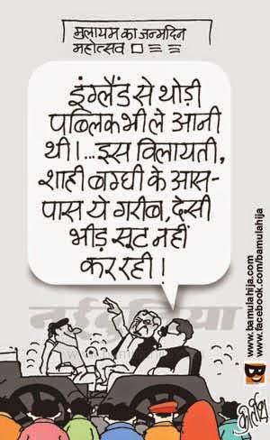 mulayam singh cartoon, common man cartoon, poverty cartoon, cartoons on politics, indian political cartoon