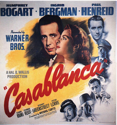 Casablanca, Bogart, Bergman, classic movie, movie review,
