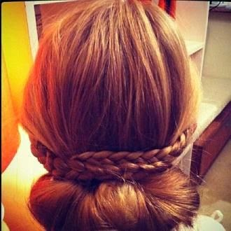 Braid & low bun