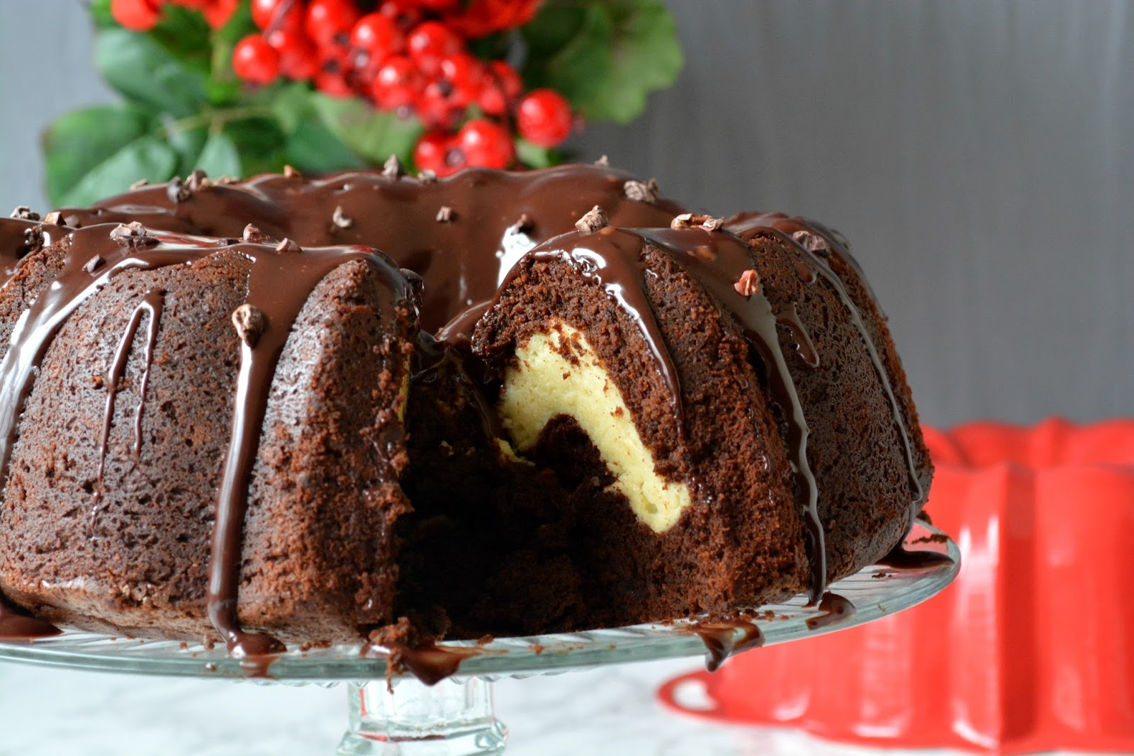 Love is in my tummy: Cheesecake filled Chocolate cake
