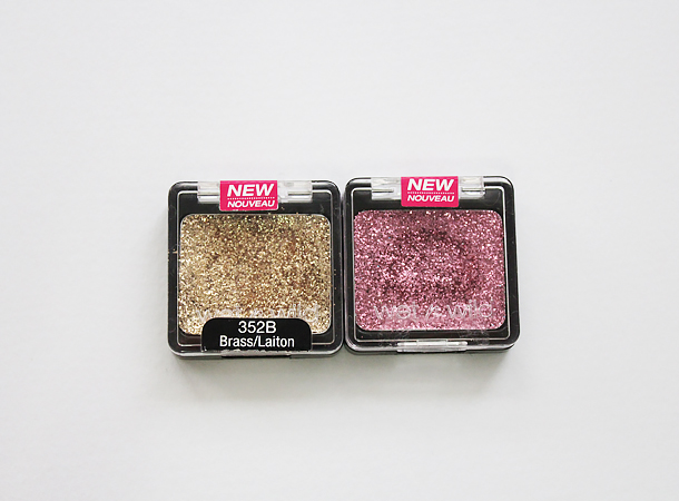 wet'n'wild color icon glitter eyeshadow singles brass groupie swatches