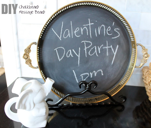 diy chalkboard message board