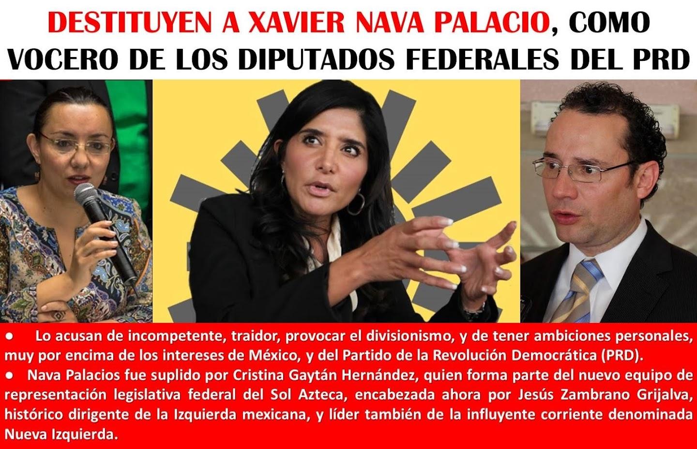 """POR INCAPAZ, CILINDRERO DE LA DESUNION, Y TRAIDOR, """"REVIENTAN"""" A XAVIER NAVA PALACIOS."""