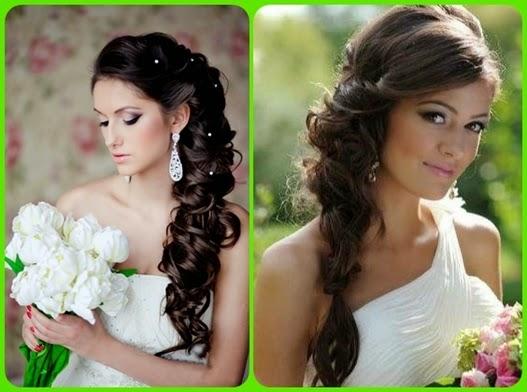 Brautfrisur Lange Braune Haare Mittellange Haare