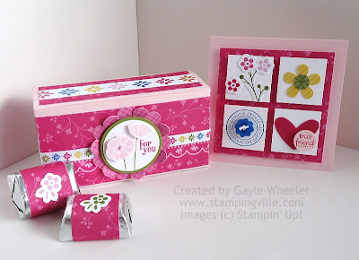 Gift Set - Embellished treat box, wrapped candy, and 3x3 mini card