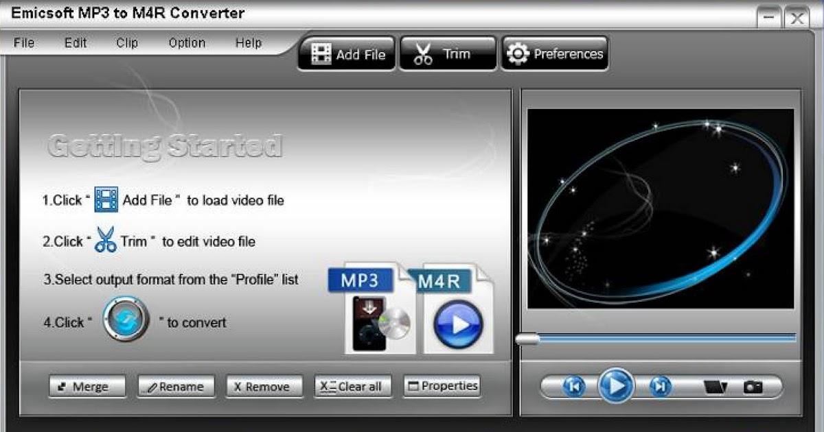 Скачать конвертер музыки в m4r