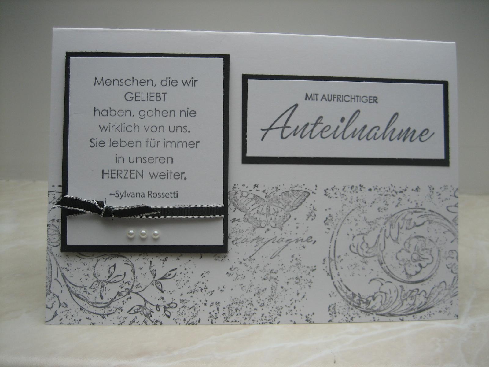 Ingeborgs-Bastelecke: Trauerkarte
