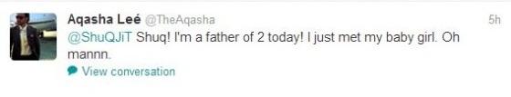 Twitter Aqasha - Gambar Anak Perempuan Aqasha Selamat Dilahirkan