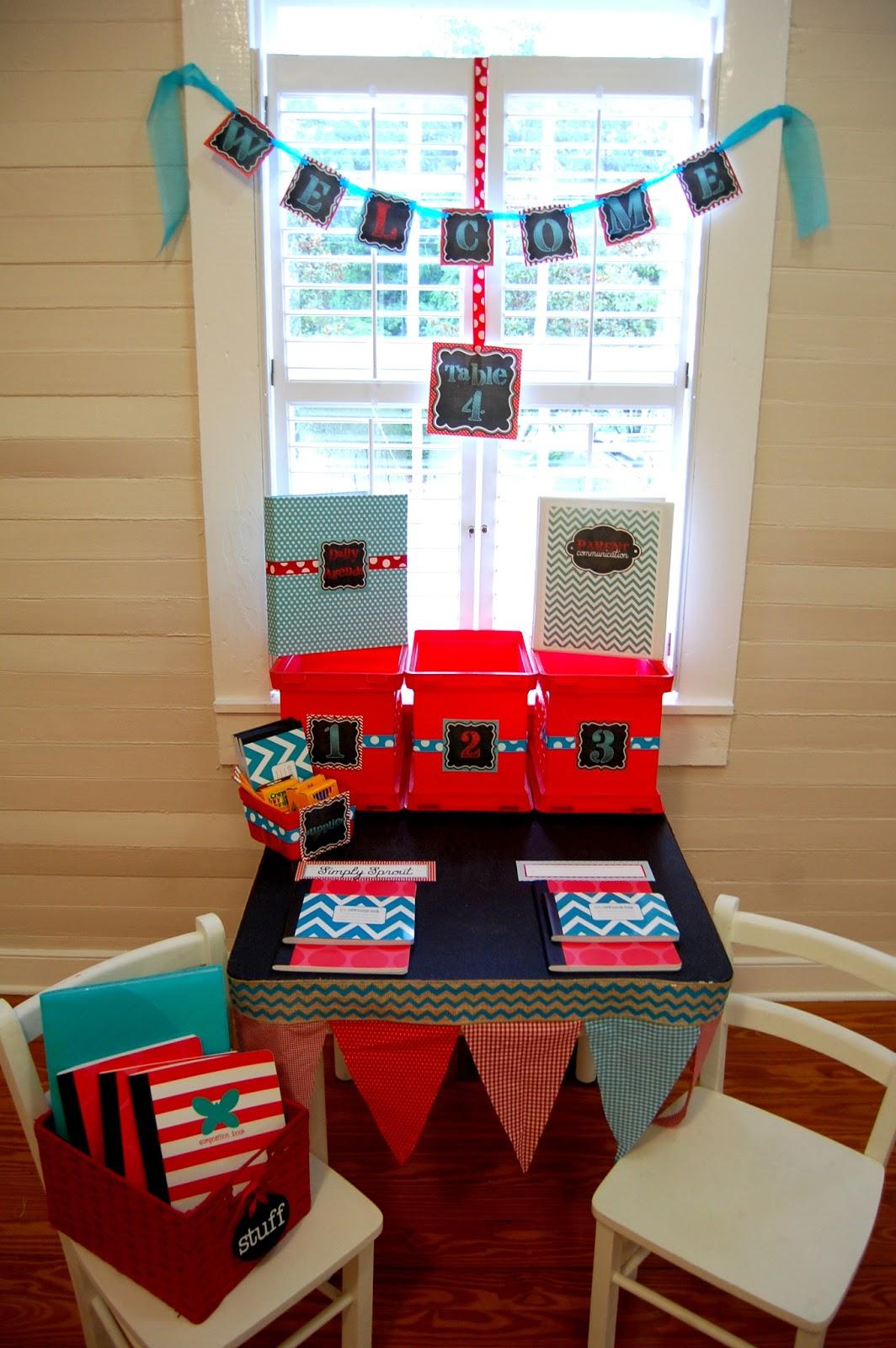 Classroom Design Kit ~ Red aqua classroom design kit simply sprout