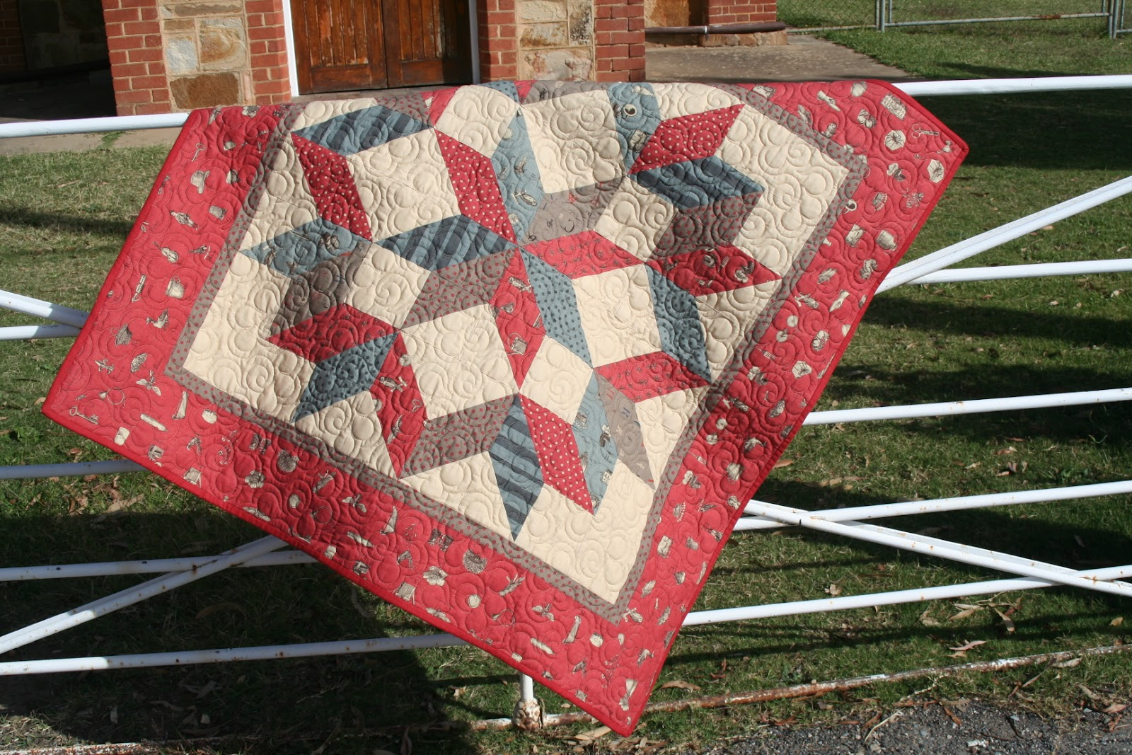 England Street Quilts Friday Finish Ethans Carpenters Star Quilt