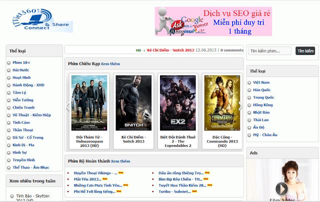 Tổng Hợp Template Web Xem Phim Online Đẹp cho Blogspot