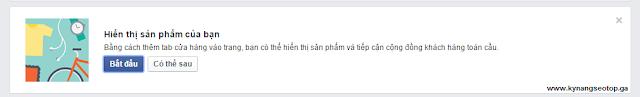 """Cách tạo tab """"Cửa hàng"""" trên fanpage facebook"""
