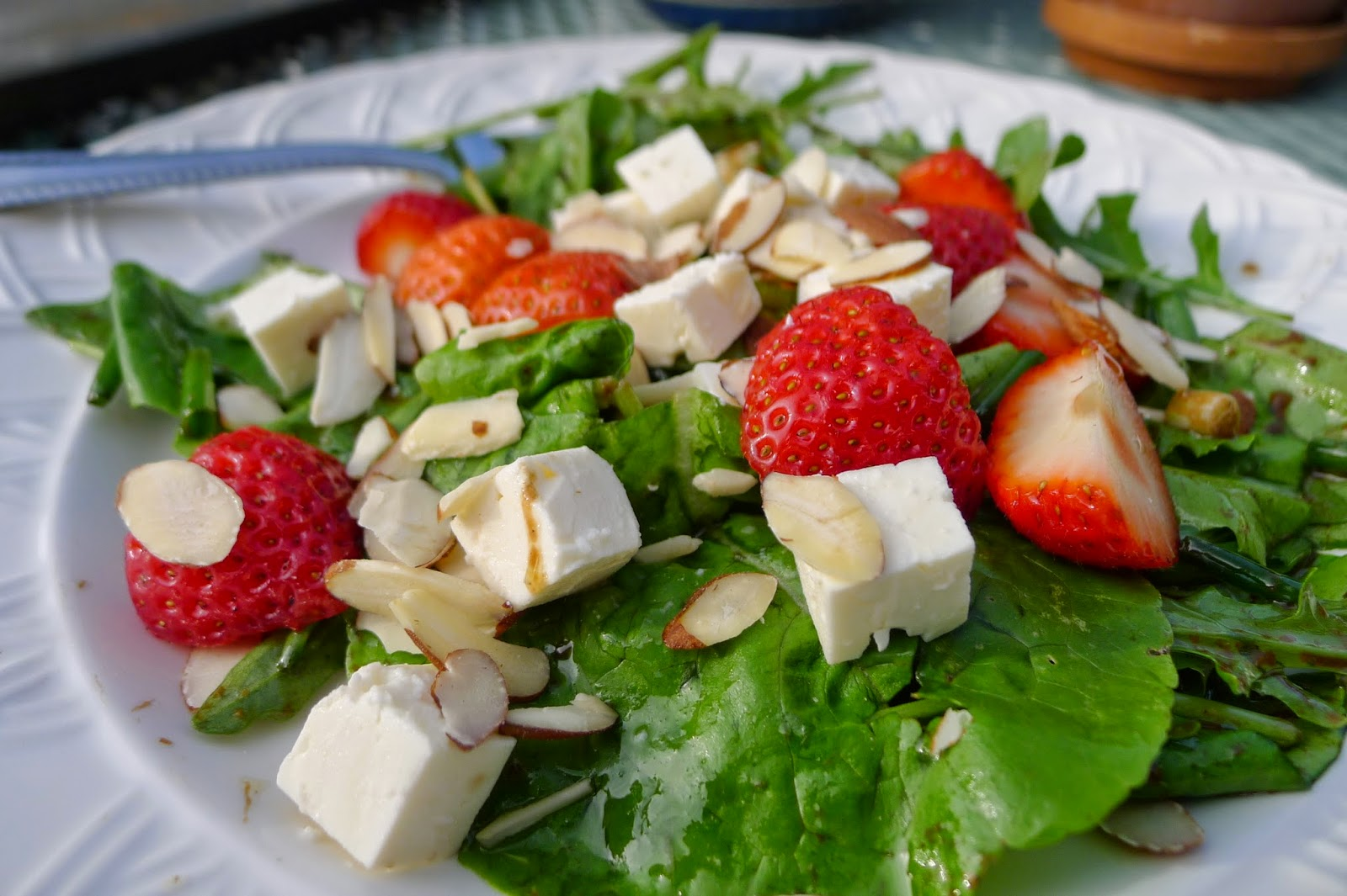 Strawberry and feta salad, recipes with strawberries