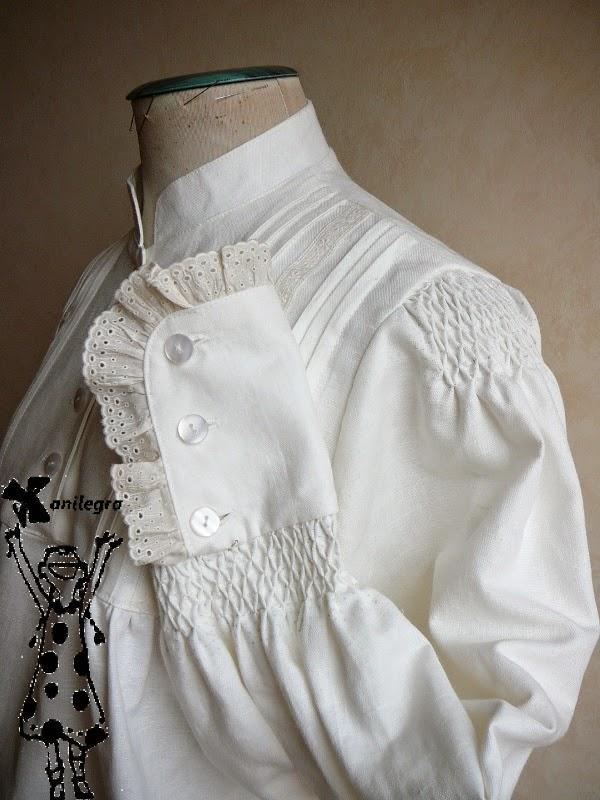 Anilegra moda para muñecas: Nido de abeja para una camisa de gallega ...