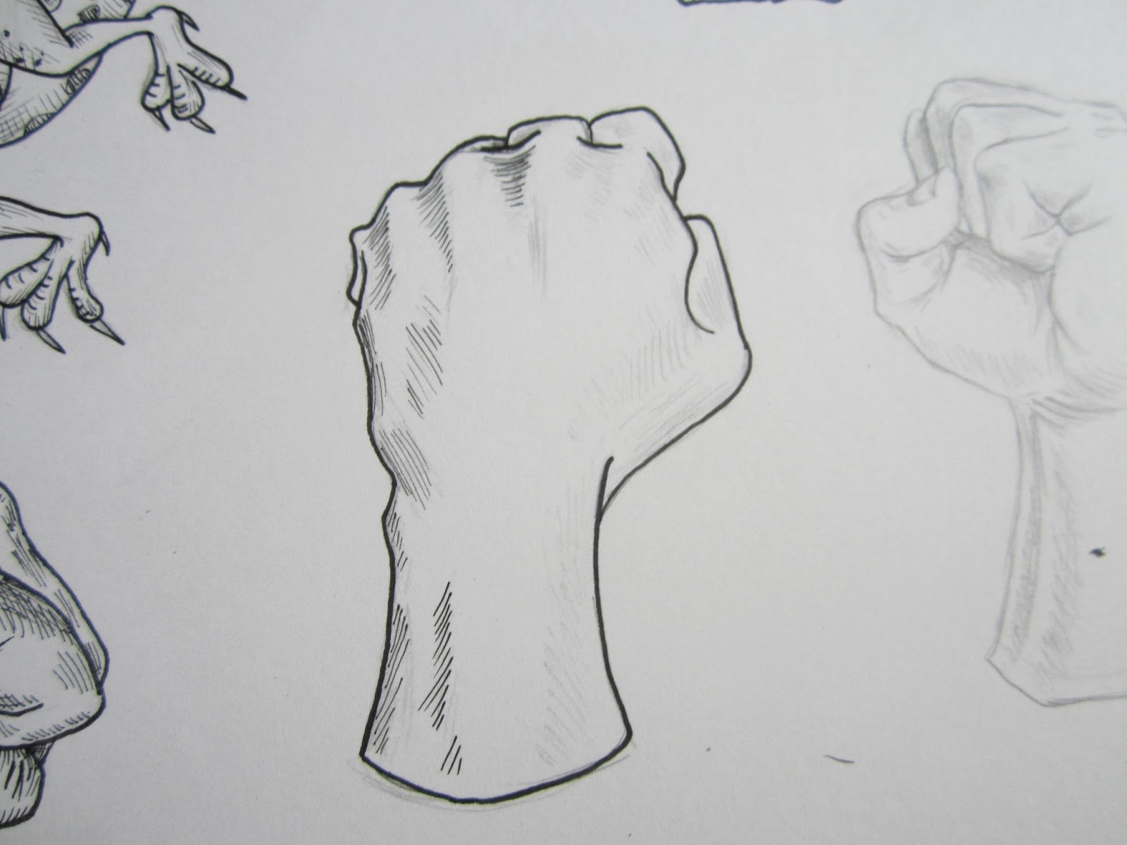 How to draw fist