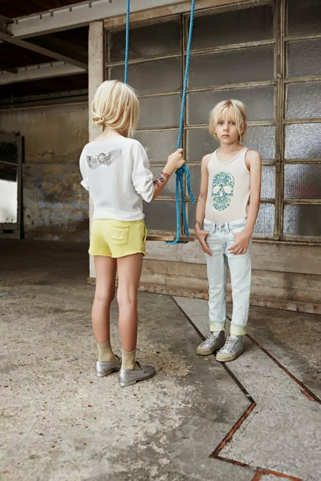 Cool girls' clothes by Zadig & Voltaire for spring 2014 kids fashion collection