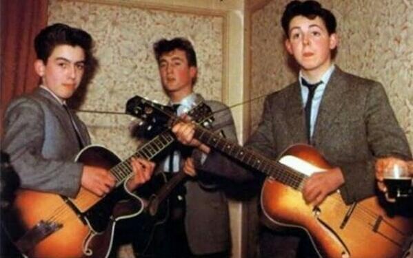 Los Beatles de jóvenes