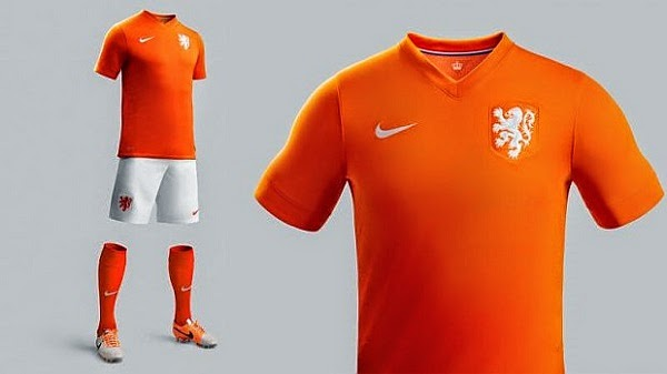 Netherlands 2014 World Cup Home Kit