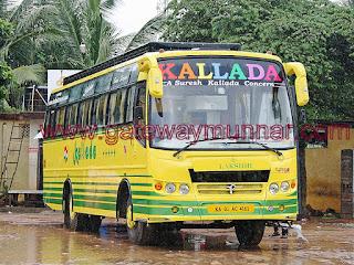 Bangalore to Munnar Via Kattapana Air Bus