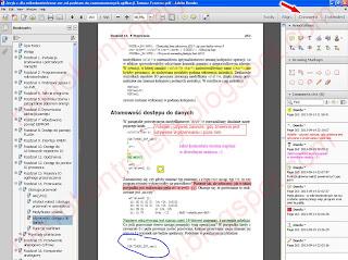 Funkcjonalności dodawania komentarzy i rysunków na stronie książki w wersji eBook.
