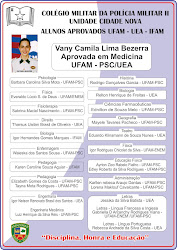 Alunos aprovados UFAM / UEA/ IFAM