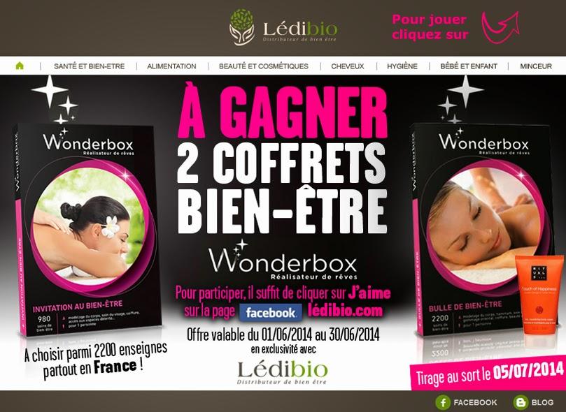 Jeu concours Ledibio: 2 Wonderbox à gagner