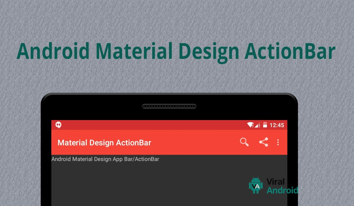 Android material design actionbar app bar how to make