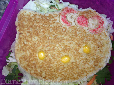 Hello Kitty Bento Lunch Grilled Cheese