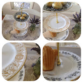 Vintage Plate Cake Stands