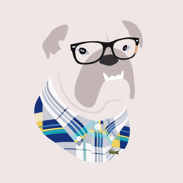 Hipster Pet Portrait
