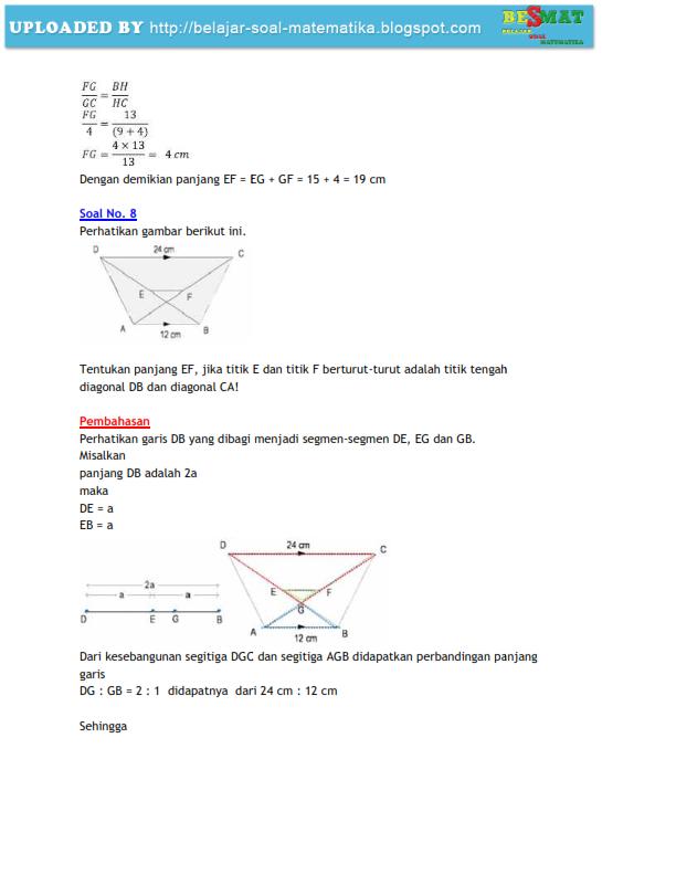 soal matematika smp kelas IX