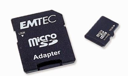 Karta pamięci Emtec Micro SDHC 16 GB klasa 10 z Biedronki