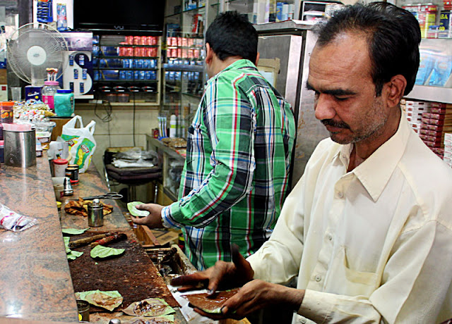 man making paan
