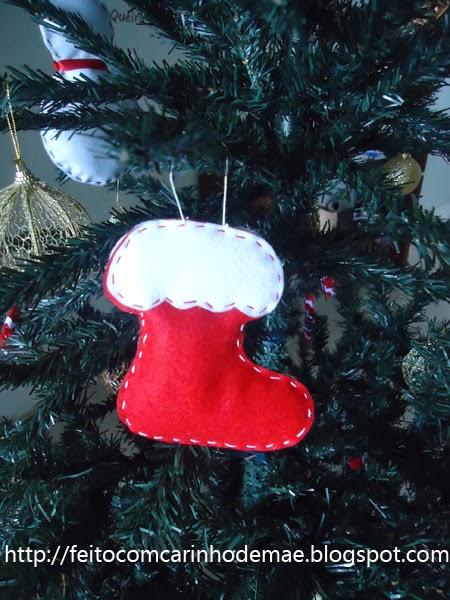 enfeites natalinos em feltro