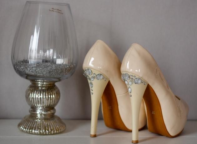 Decorar Zapateria ~ Zapatos decoraci?n de boda con diamantes de imitaci?n