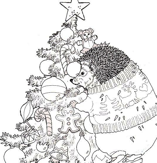 S Coloring Page For Jan Brett The Hat Coloring Pages