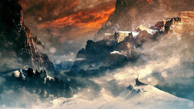 Fantasy Snow World Art HD Wallpaper