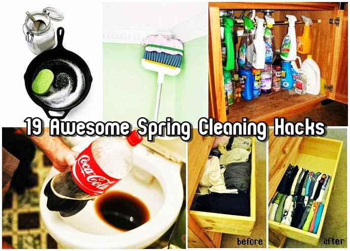 19 Awesome Spring Cleaning Hacks