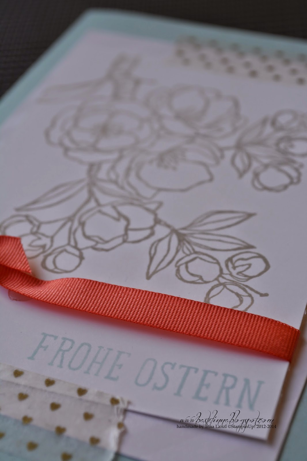 stampin up + frohe osterbotschaft