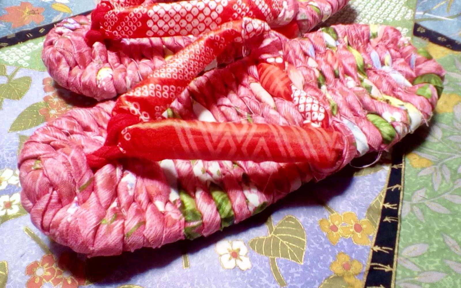 赤い布ぞうり